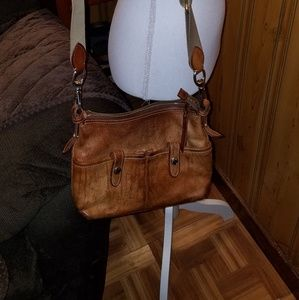 DOONEY BOURKE EAST/WEST LEATHER CROSSBODY